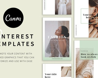 Fashion Canva Pinterest Templates