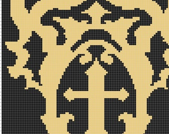 Belmont Crest Inspired Graphghan Pattern