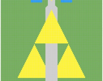 Master Sword and Triforce Graphghan Pattern