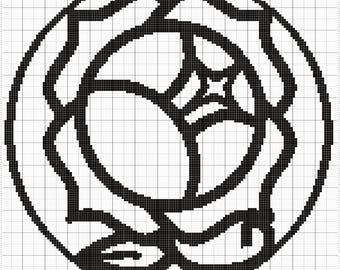 Rose Crest Graphghan Pattern