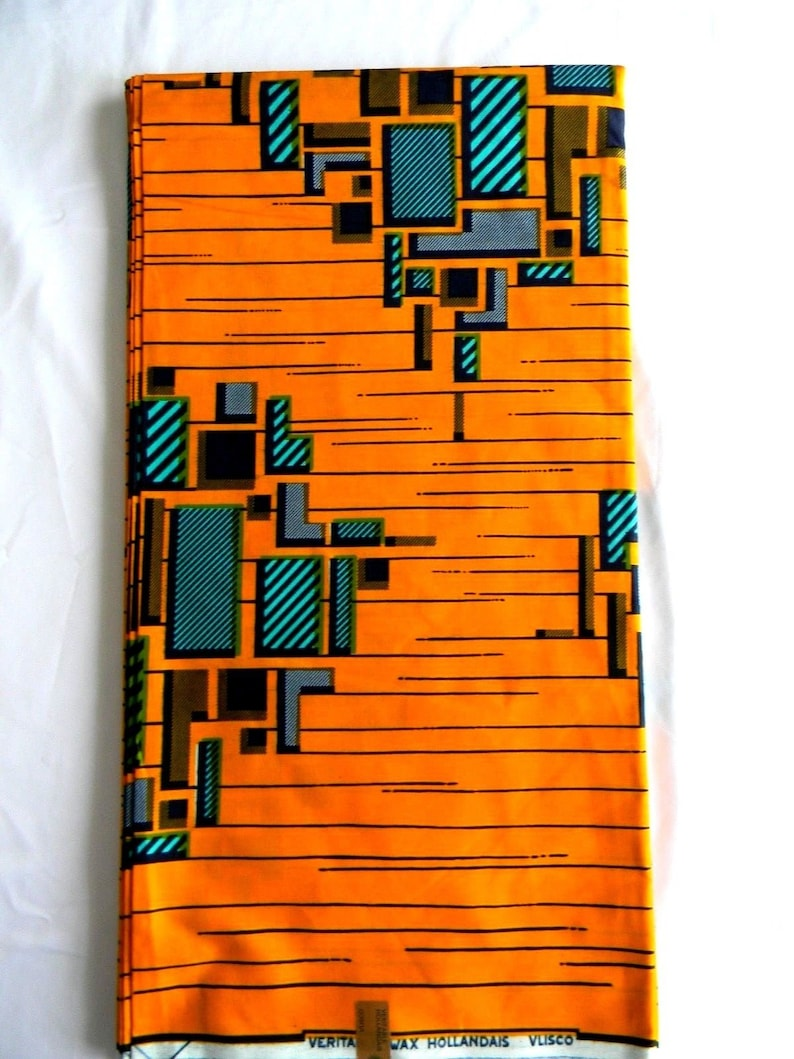 Vlisco Authentic Wax Hollandaise 6 Yards HH13 Pagnes Africaine Dutch Block Wax Print  African Wax Print Wax Fabric For African Outfits