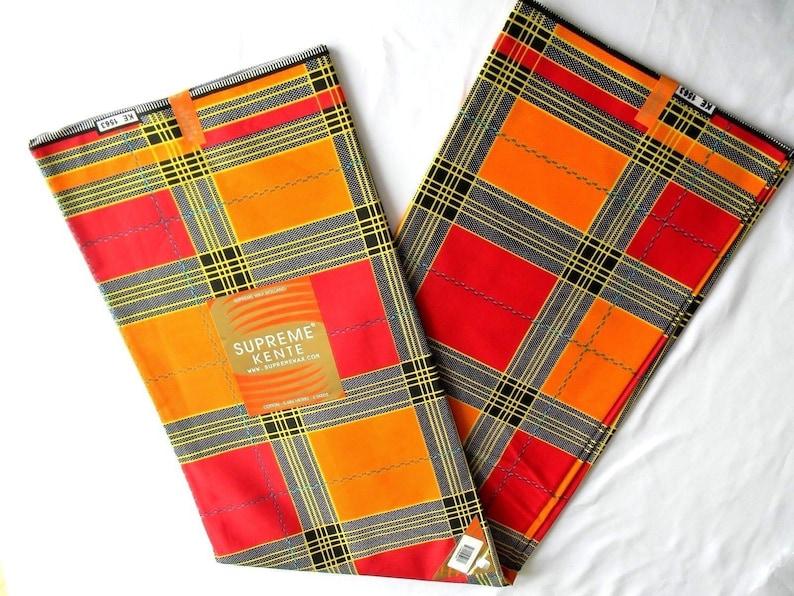 Supreme Kente Print Fabric African Kente Fabric  African FabricVabriant Color Ankara Kente6 yardsPagne AfricaineDansikiCraftKT008