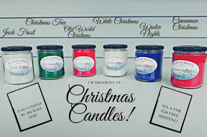 Christmas Candle Favorites Collection-Hand Poured-Small Batch Candle-Christmas Candle