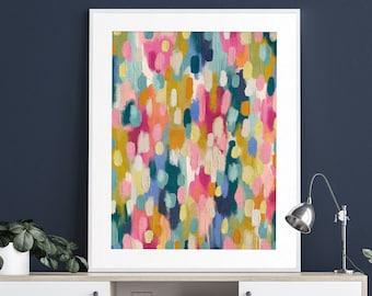 Abstract Printable Wall Art Painting Downloadable Art Colorful Abstract Print Modern Painting Contemporary Nursery Kids Wall Art