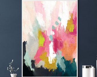 Colorful Abstract Art Printable Wall Art Painting Downloadable Art Minimalist Bold Colorful Print Modern Painting Contemporary Wall Art