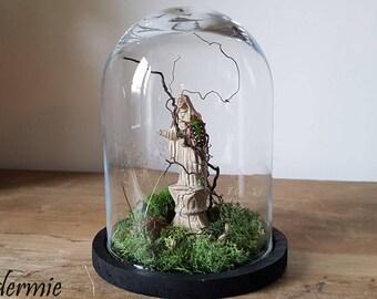 "Bell jar ""seeking light"""