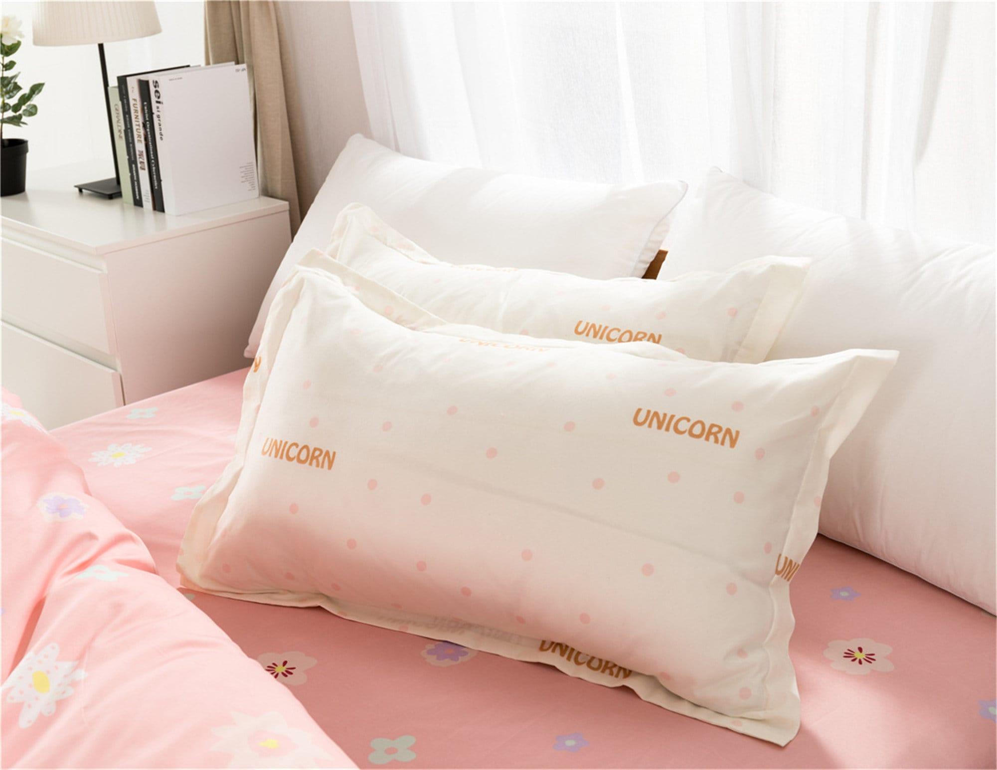 Duvet Cover Set Unicorn Bedding Set Girls Cute Bed Set Microfiber Duvet Cover Pillowcase Soft Breathable