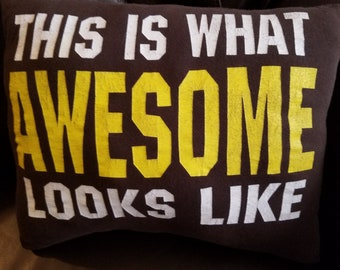 Awesome T-shirt Throw Pillow