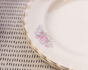 J & G Meakin Bridal Bouquet dinner plates set of 2 Wedding Gift