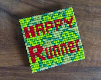 HAPPY RUNNER - The only square Miyuki beads