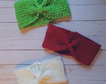 Crochet Bow Headband Earwarmer