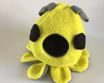 Sugar Glider Octopus Pouch - Sugar Glider Cage Pouch - Sugar Glider Toy - Rat Pouch - Yellow Octopus Pouch