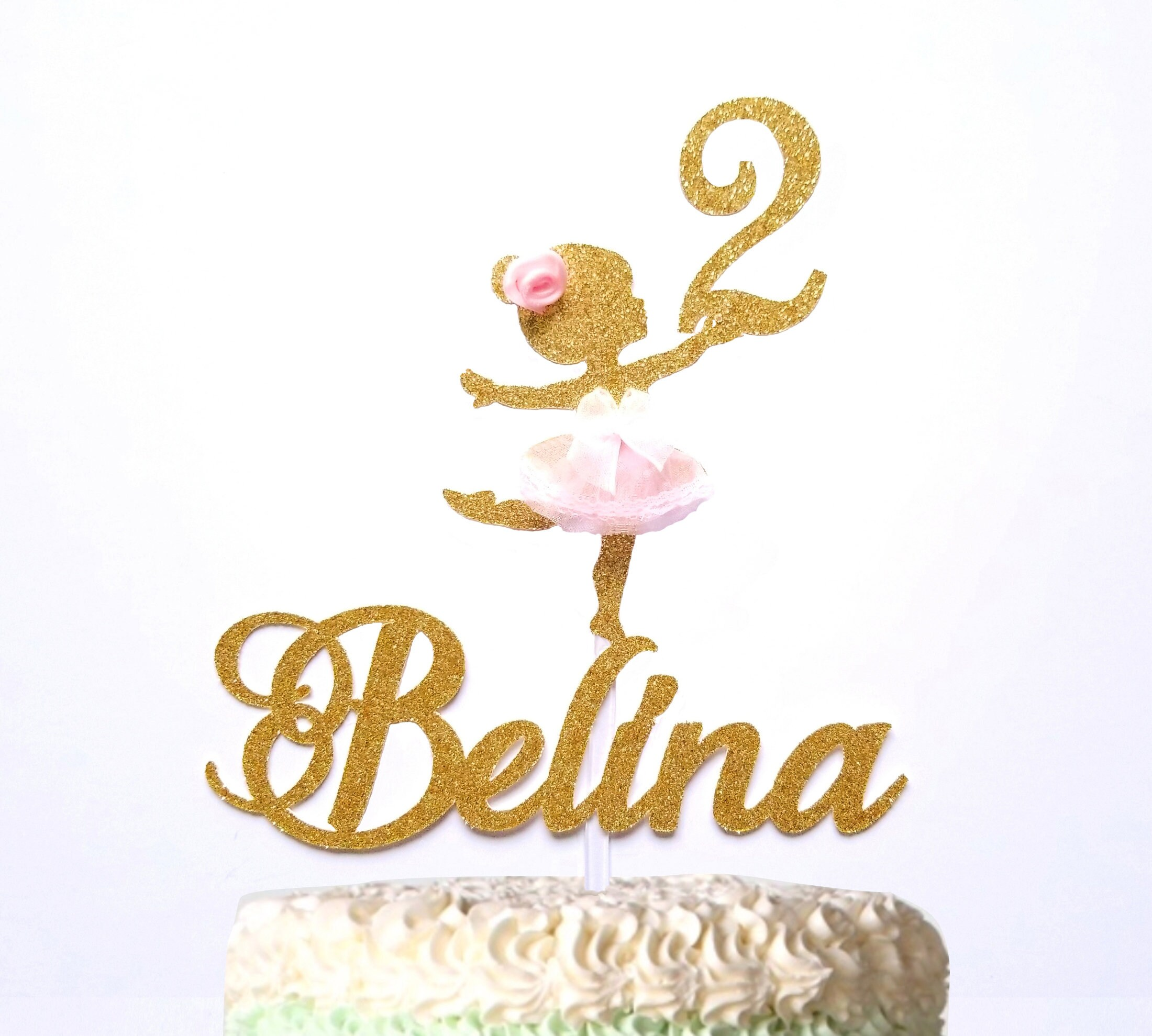 Pleasant Ballerina Birthday Cake Topper With Any Name And Age W Tulle Etsy Personalised Birthday Cards Epsylily Jamesorg