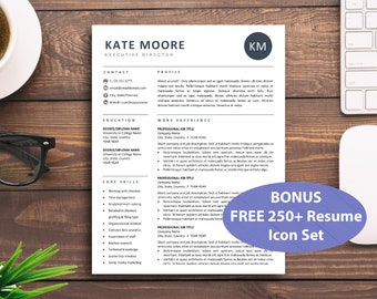 Professional Resume Template for Word Pages Mac PC Simple | Etsy