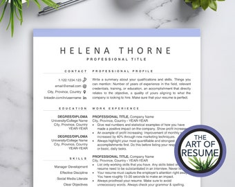 Resume Builder Free Etsy