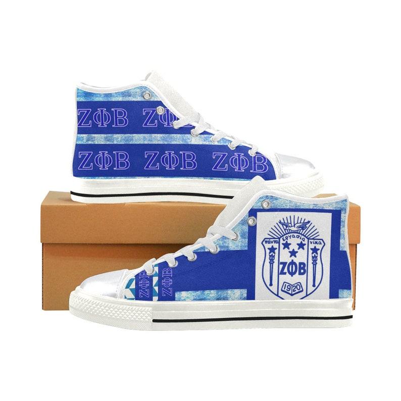 0a24d5639302 Zeta Phi Beta High Top   Low Top Sneakers shoe runs large