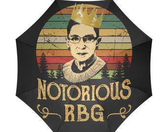 Umbrella, Notorious, RBG, Ruth Bader Ginsburg, Unique, Gift, School, Supreme Court, Justice, Girl, Power, Legend, Free Personalization