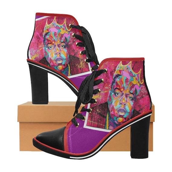 Black Girl Magic Chunky Heel Boot   Etsy