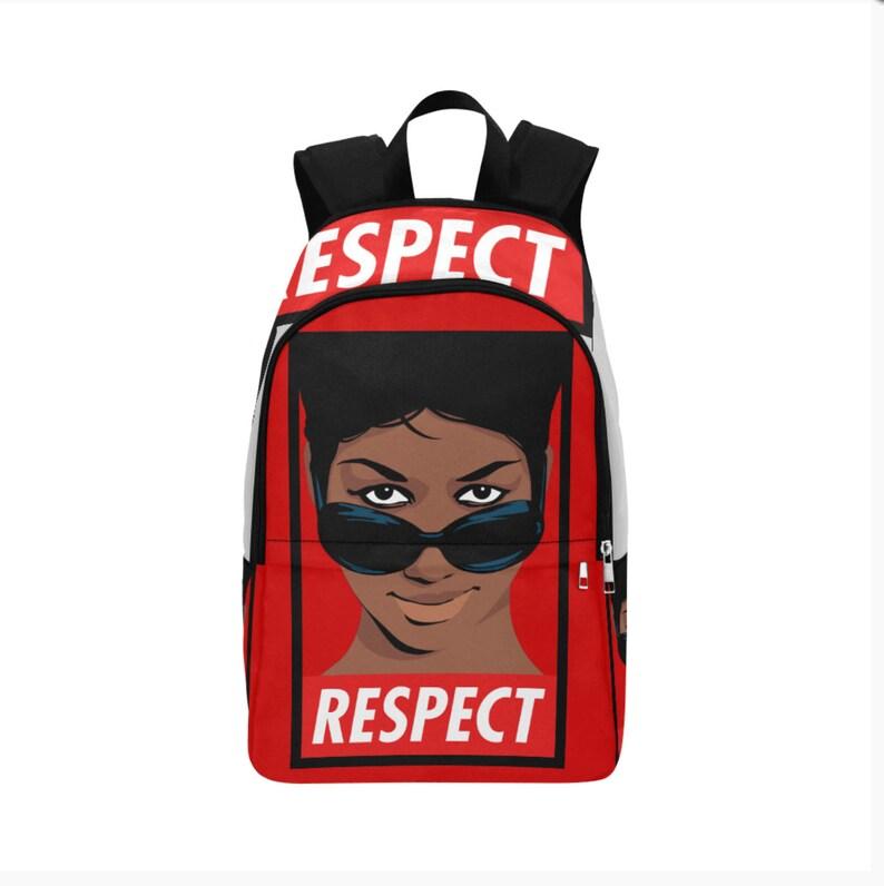 Custom Fabric Backpack Aretha  Respect