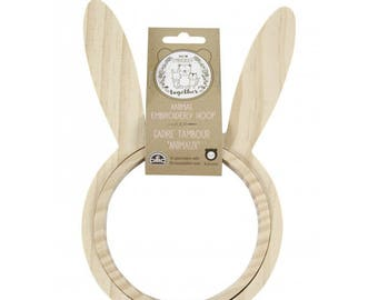 Wooden Hoop Rabbit
