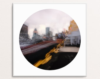 Painted Deserts I: Abstract Urban Landscapes - Circle - Digital Download Printable Wall Art for Multiple Frame Sizes | Fine Art Photography