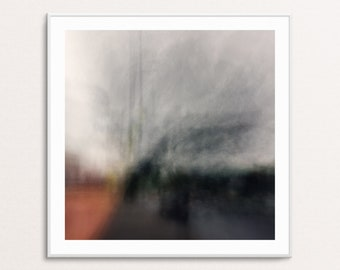Smoke Rising: Abstract Urban Landscapes - Square - Digital Download Printable Wall Art for Multiple Frame Sizes | Fine Art Photography
