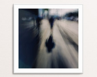 Blue Walker: Abstract Urban Landscapes - Square - Digital Download Printable Wall Art for Multiple Frame Sizes | Fine Art Photography