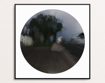 Dark Pool I: Abstract Urban Landscapes - Circle - Digital Download Printable Wall Art for Multiple Frame Sizes | Fine Art Photography