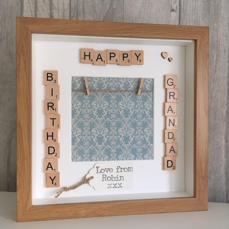 80th Birthday Personalised Coaster  A Grandad Just Like You FREE GIFT BOX
