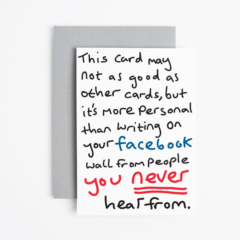 Facebook Card Birthday Funny