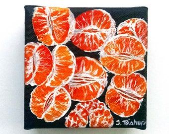 """Original Acrylic Painting: """"Clementines'"""