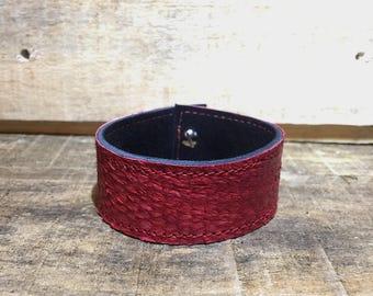 Fish leather cuff