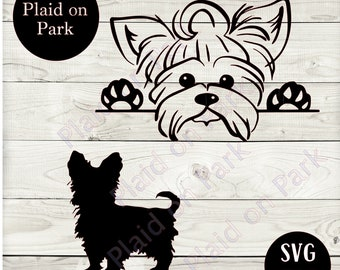 Yorkie Silhouette Etsy