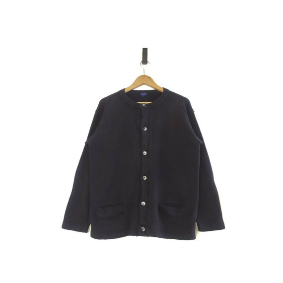 Beams Button Down Crewneck Sweatshirt