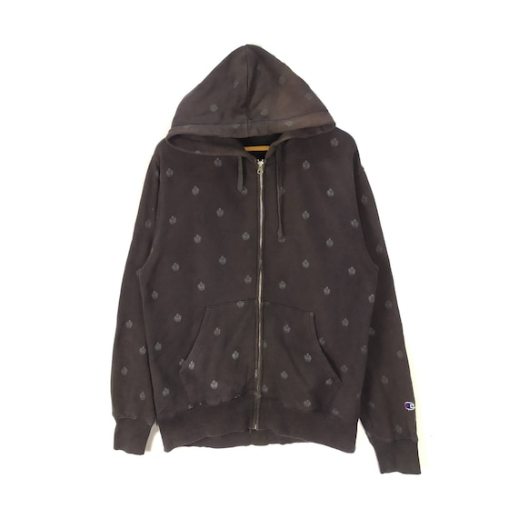 Champion Fullzip Hooded All Over Print Sweatshirt
