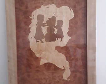 Picture in marquetry. The snow Queen.