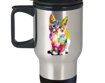 Cat Lover Travel Mug | Cat Lover Gift | Gift For Cat Lover | Cat Print | Cat Lover Mug | Best Cat Lovers | Gift For Her | Gift For Him