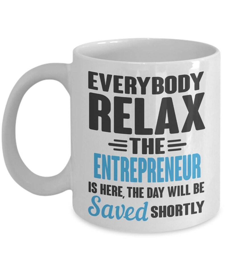 saving the day entrepreneur mug best entrepreneur gift funny