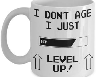 Level Up Coffee Mug | Target Gamer | RPG | Level Up | 1 Up | Gift For Gamer | Gift Mug | Funny Mug | Gamer Mug | Gift For Him | Video Game