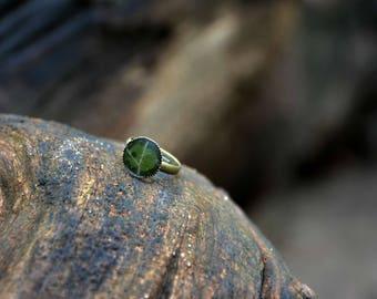 Natural leaf ring
