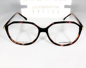 Vintage Liz Claiborne (LC 94) Tortoise Eyeglasses Frames