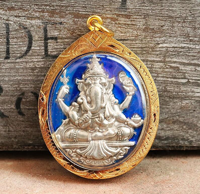 BEAUTIFUL GOLD MICRON CASE FOR PHRA SOMDEJ THAI AMULET PENDANT TALISMAN