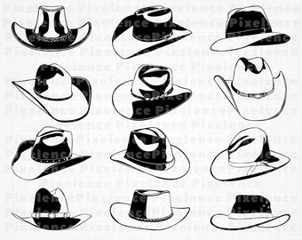 359bcef3b9908 Cowboy Hat SVG Files  2