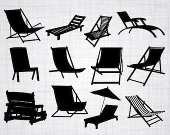 Er Was Eens Strandstoel.Strand Stoel Svg Bestanden Strandstoel Dxf Gesneden Dossiers