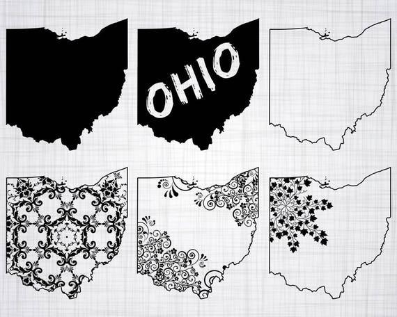 Ohio Svg Bundle Ohio Svg Ohio State Clipart Ohio Cut Files Etsy