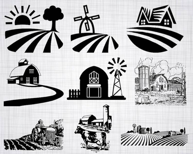 Farm Svg Bundle Farm Svg Clipart Farm Cut Files For Etsy