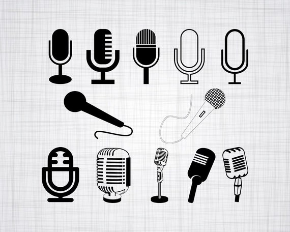 Microphone Svg Bundle Microphone Svg Microphone Clipart Cut Etsy