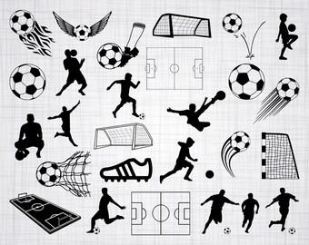 Soccer SVG Bundle, Soccer SVG, Soccer Clipart, Soccer Cut Files For Silhouette, Files for Cricut, Soccer Vector, Svg, Dxf, Png, Eps, Decal
