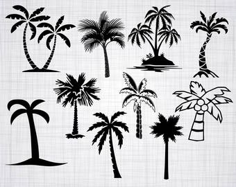 Palm Tree SVG Bundle, Palm Tree SVG, Palm Tree Clipart, Palm Cut Files For Silhouette, Files for Cricut, Vector, Svg, Dxf, Png, Eps, Decal