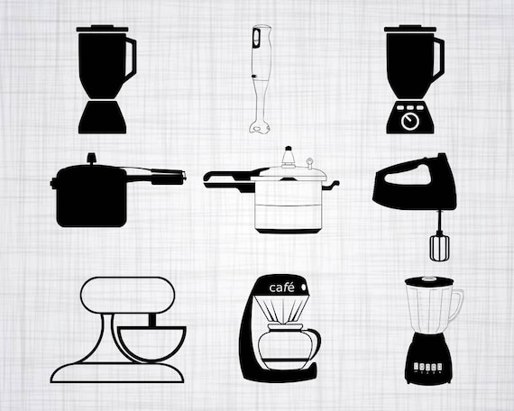 Kitchen Appliances Svg Bundle Kitchen Appliances Clipart Cut Files For Silhouette Files For Cricut Vector Cooking Svg Dxf Png Design